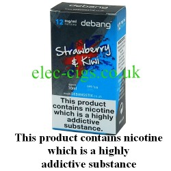 Strawberry and Kiwi UK Made E-Liquid from Debang in its new retail box