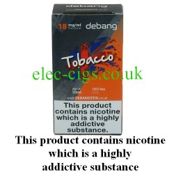 Tobacco UK Made E-Liquid from Debang in its new retail box