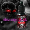 showing the bottle, on a colourful background, of Dark Art Premium E-Juice by Black Magic