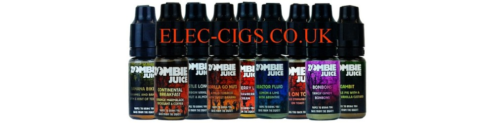 some of the flavours in 10 ml Zombie Juice