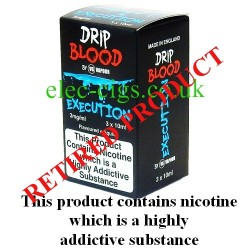 Execution E-Juice from Drip Blood showing showing the outer packaging of this great e-juice