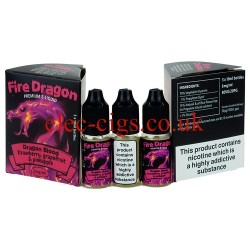 Dragon Slayer 30 ML E-Juice by Fire Dragon in its bottle on plain white background