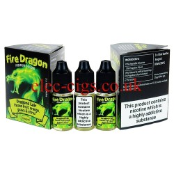 Dragon Lair 30 ML E-Juice by Fire Dragon in its bottle on plain white background