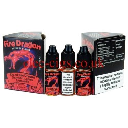 Eye Of The Dragon 30 ML E-Juice by Fire Dragon in its bottle on plain white background