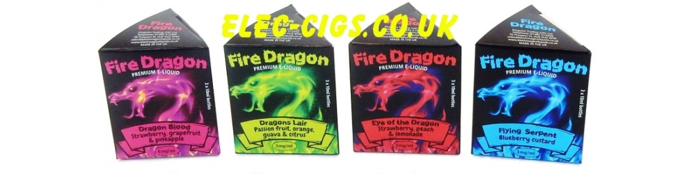 Fire-Dragon E-Juice - just four of the wonderful flavours