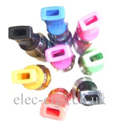 shows the seven colours available for this atomizer