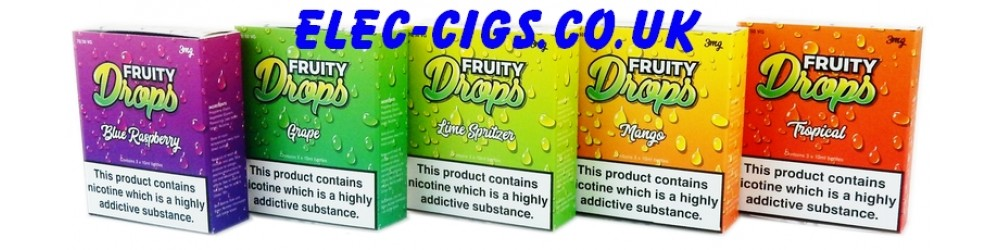 Fruity Drops E-Juice: showing all the flavours