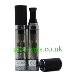 2 G-Hit-B 2.4 ml Atomiser one with top on and one with top off