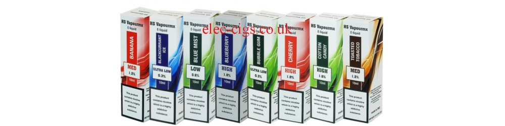 A Great range of premium e-liquids from HS VapourMX