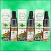 e-liquid bottle and box in Tobacco Mint on plain white background