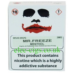 a box of Mr Freeze from Joker Juice