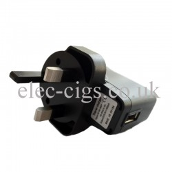 Mains Charger (Black) for E-Cigarette