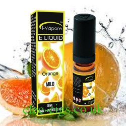 showing a bottle and boxe of Orange E-Liquid by iVapore