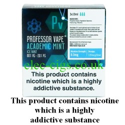 Academic Mint E-Juice 30 ML by Professor Vape on a green smokey backgroud
