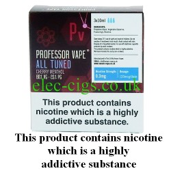 All Tuned E-Juice 3 x 10 ML by Professor Vape on a green smokey backgroud
