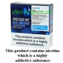 Blue Lab-Shake E-Juice 30 ML by Professor Vape on a green smokey backgroud