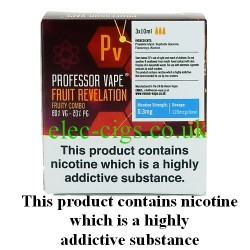 Fruit Revelation E-Juice 30 ML by Professor Vape on a green smokey backgroud