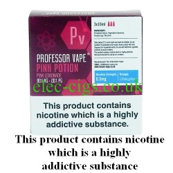 Pink Potion E-Juice 30 ML by Professor Vape on a green smokey backgroud