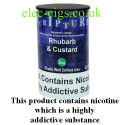 an image of a bottle of Rhubarb and Custard 30 ML E-Liquid 50-50 (VG/PG)