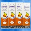 4 boxes of Mix Fruit E-Liquid by Smoknic showing the four different nicotine strengths on blue background
