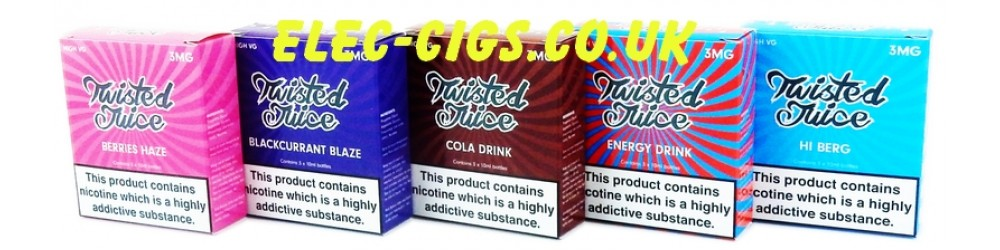 Twisted Juice 70-30 (VG/PG) 30ML (3 x 10 ML) this shows several of the flavours available.