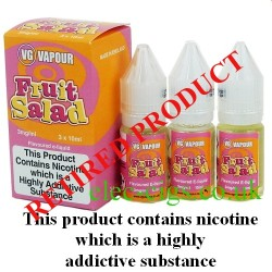 bottles of Fruit Salad Vape Juice 30 ML: 80-20 (VG/PG) by VG Vapour