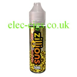 a bottle of Zillions 50 ML Sour Strawberry E-Liquid