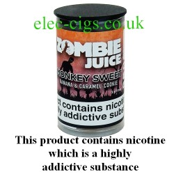 bottle of Monkey Sweet Zombie Juice 3 x 10 ML